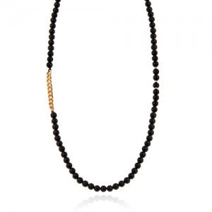 گردنبند طلا مردانه طرح کارتیه کد mn702