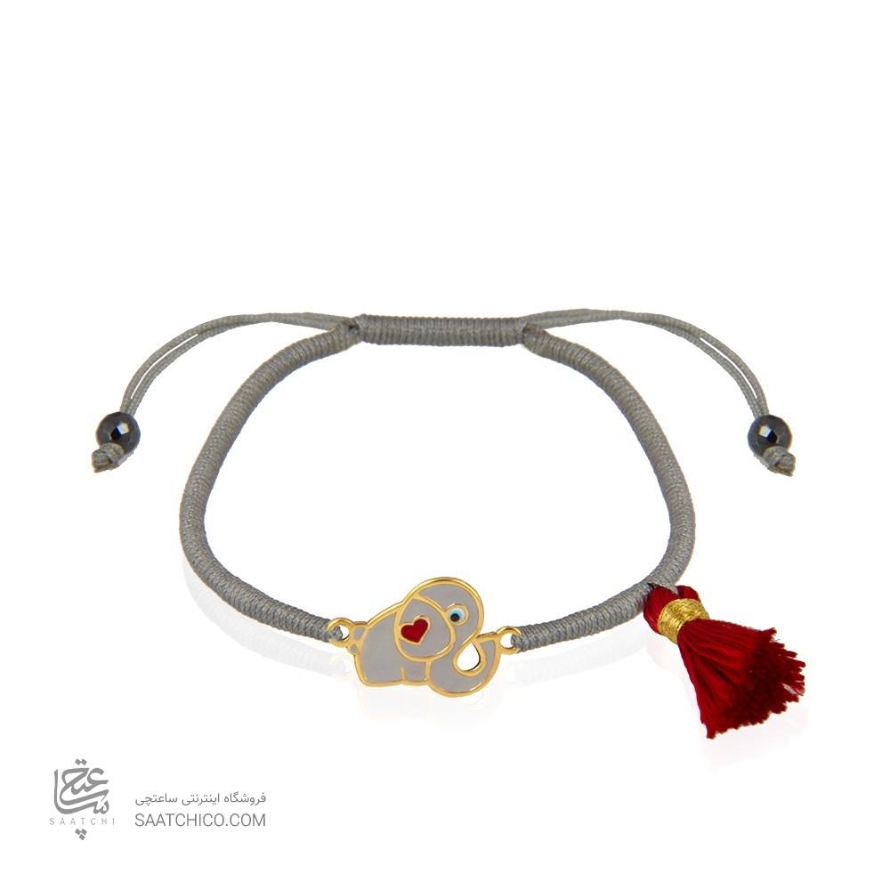 دستبند طلا زنانه طرح فیل کد xb946