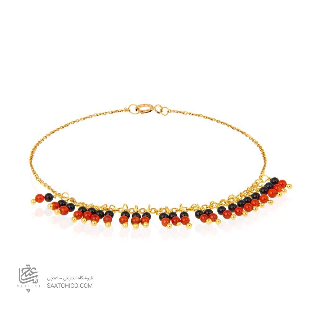 دستبند طلا زنانه با سنگ کد xb948