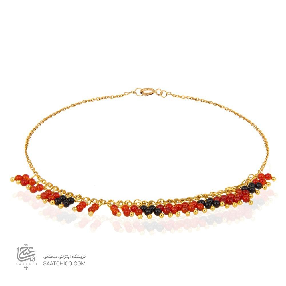 پابند طلا زنانه با سنگ کد xa112