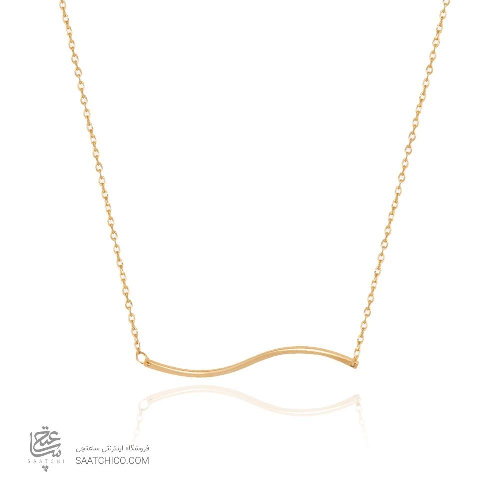 گردنبند طلا زنانه طرح هندسی کد cn375
