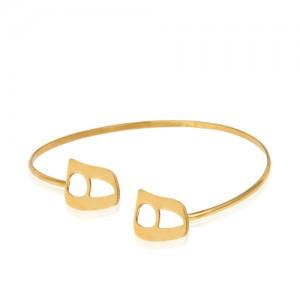 دستبند طلا زنانه طرح نیمانی کد cb346