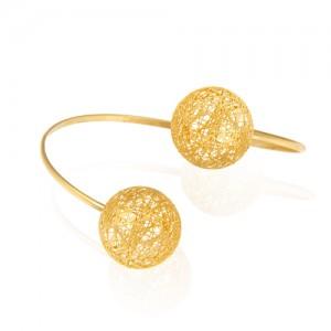 دستبند طلا زنانه طرح فیوژن کد cb345