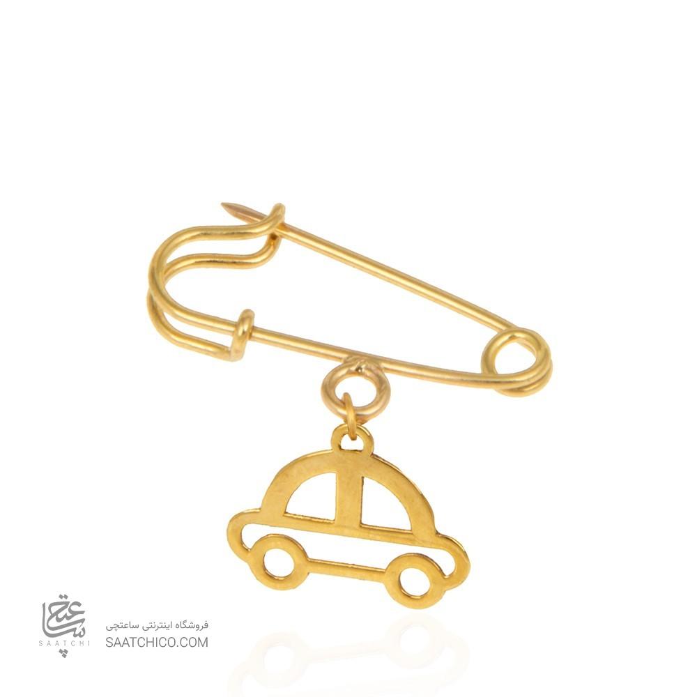 سنجاق سینه طلا کودک طرح ماشین کد ko105