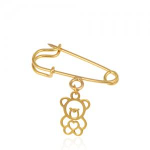 سنجاق سینه طلا کودک طرح خرس کد ko106