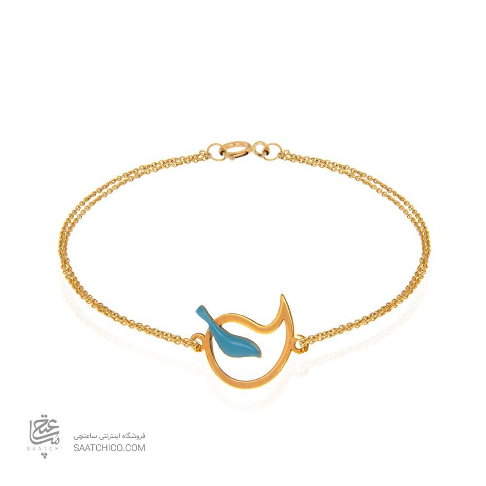 دستبند طلا زنانه طرح بته جقه کد cb348