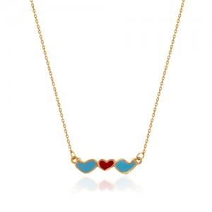 گردنبند طلا زنانه طرح عشق کد cn376