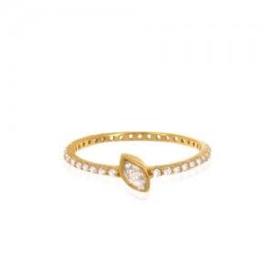 انگشتر طلا زنانه با نگین کد cr393