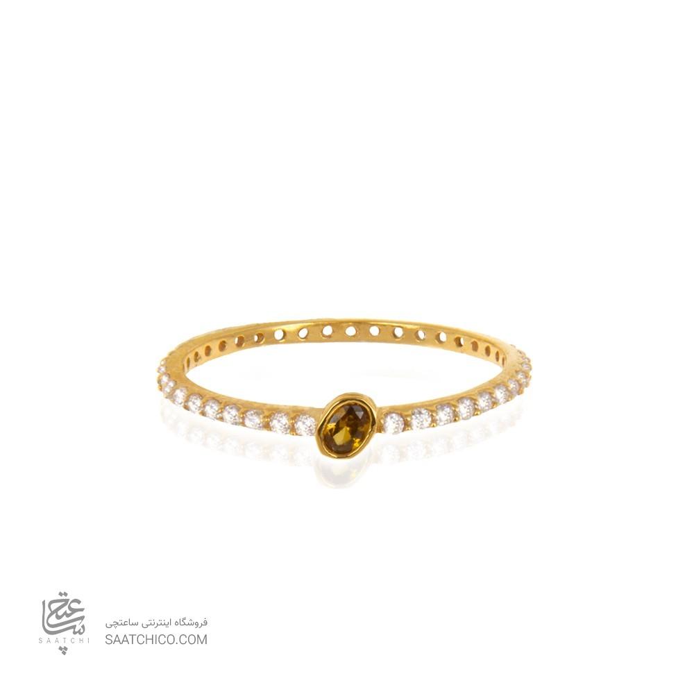 انگشتر طلا زنانه با نگین کد cr395