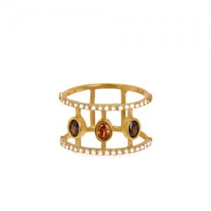 انگشتر طلا زنانه با نگین کد cr397