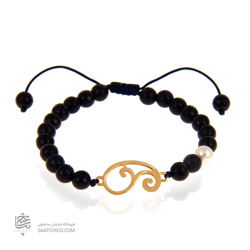 دستبند طلا زنانه طرح بته جقه کد xb962