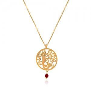 آویز طلا زنانه طرح گل و مرغ با سنگ کد xp219
