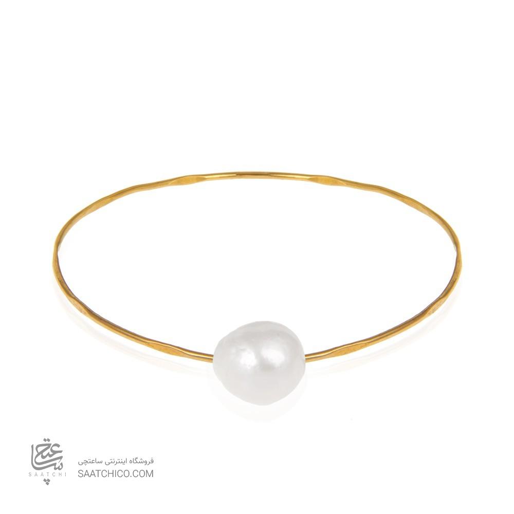 دستبند طلا زنانه با مروارید کد xb949