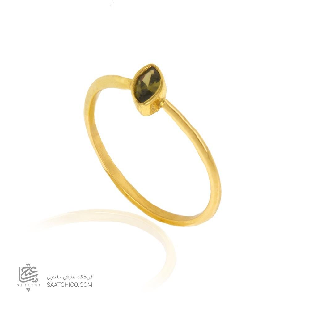 انگشتر طلا زنانه با نگین کد cr399