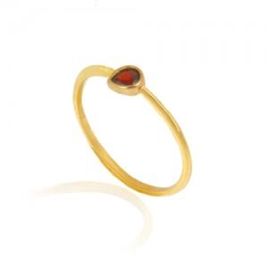 انگشتر طلا زنانه با نگین کد cr400