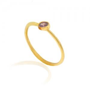 انگشتر طلا زنانه با نگین کد cr401