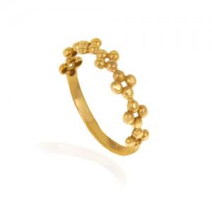 انگشتر طلا زنانه طرح گل کد cr402