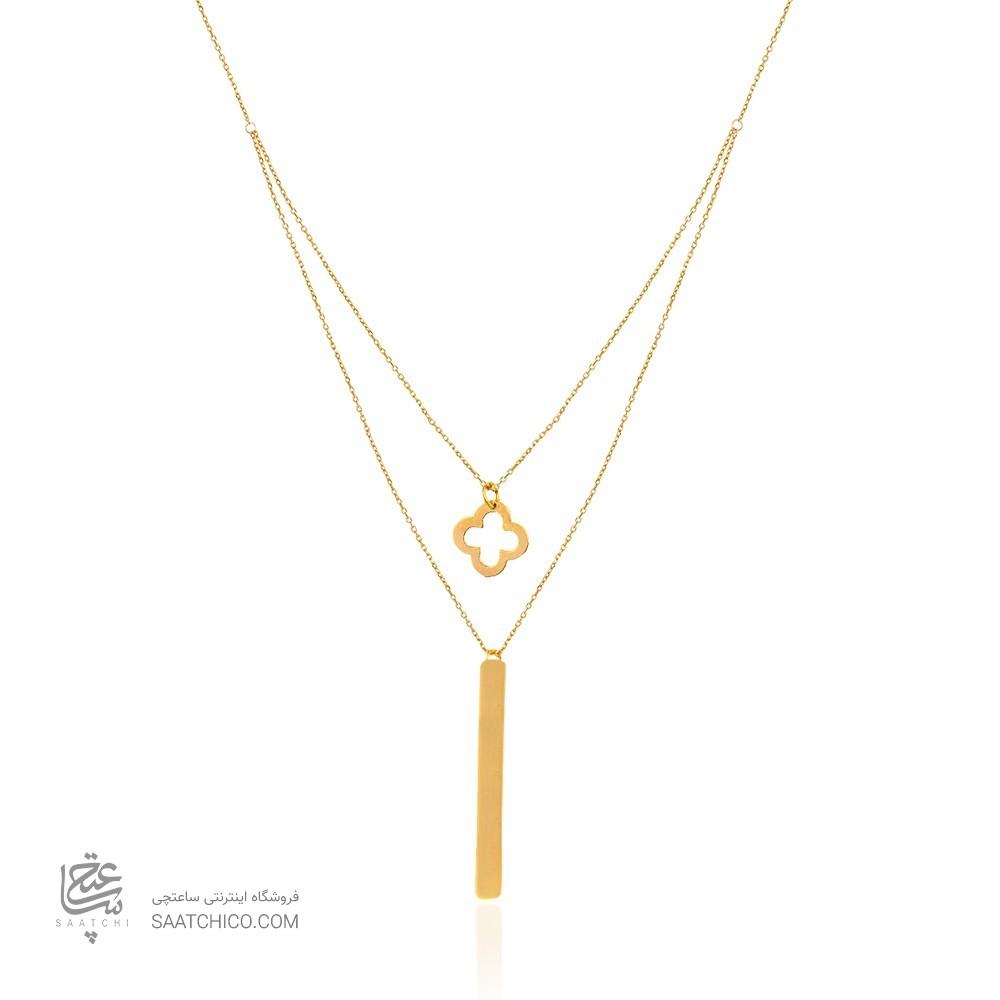 گردنبند دو لایه طلا کد ln820