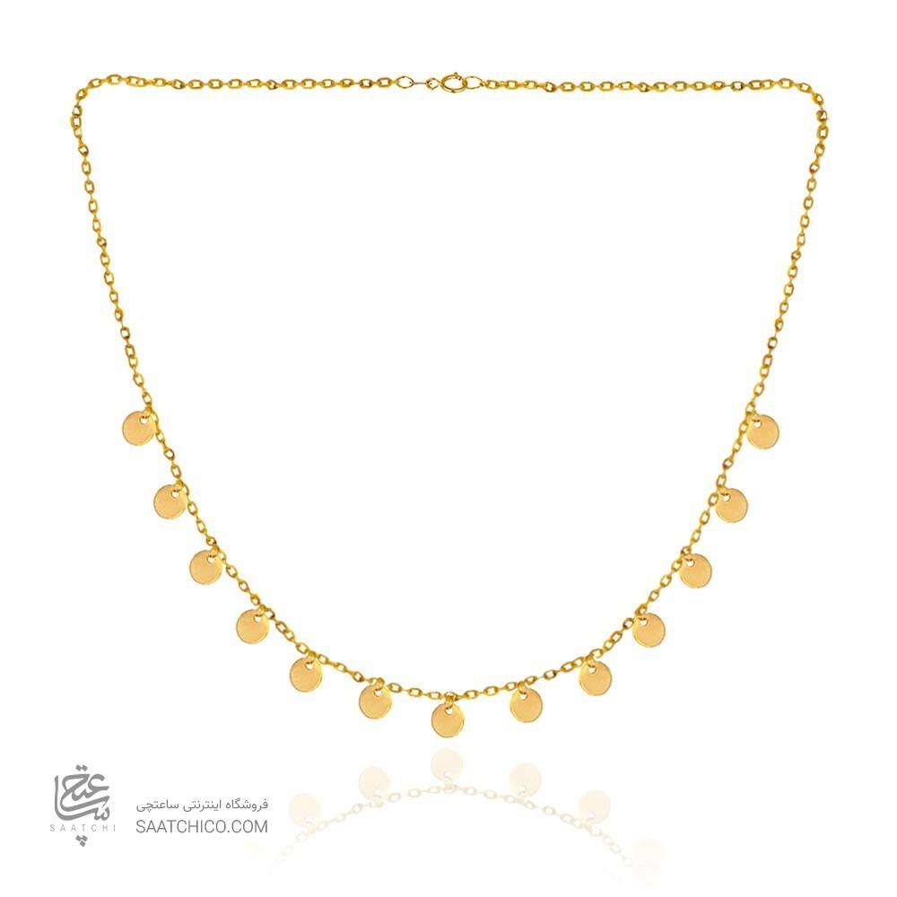 گردنبند طلا زنانه با پولک کد cn378