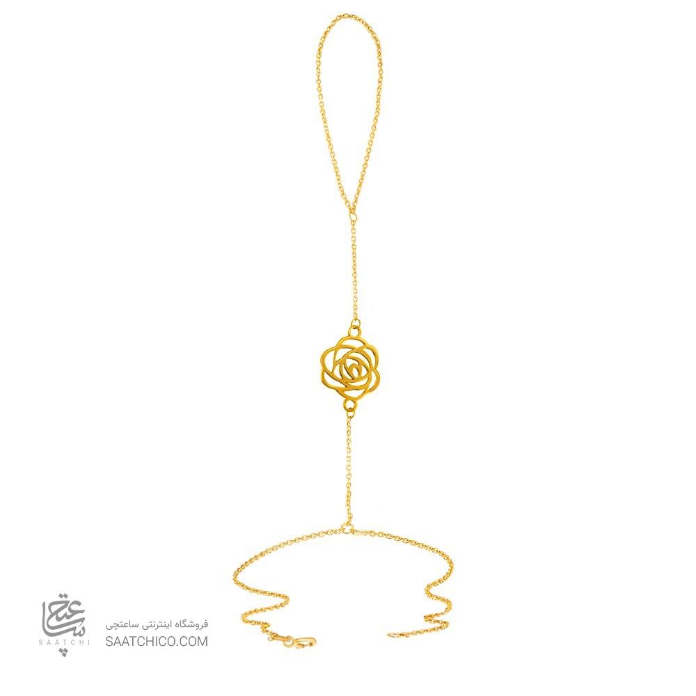 تمیمه طلا زنانه طرح گل شنل کد LT424