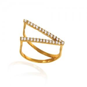 انگشتر طلا زنانه با نگین کد cr409