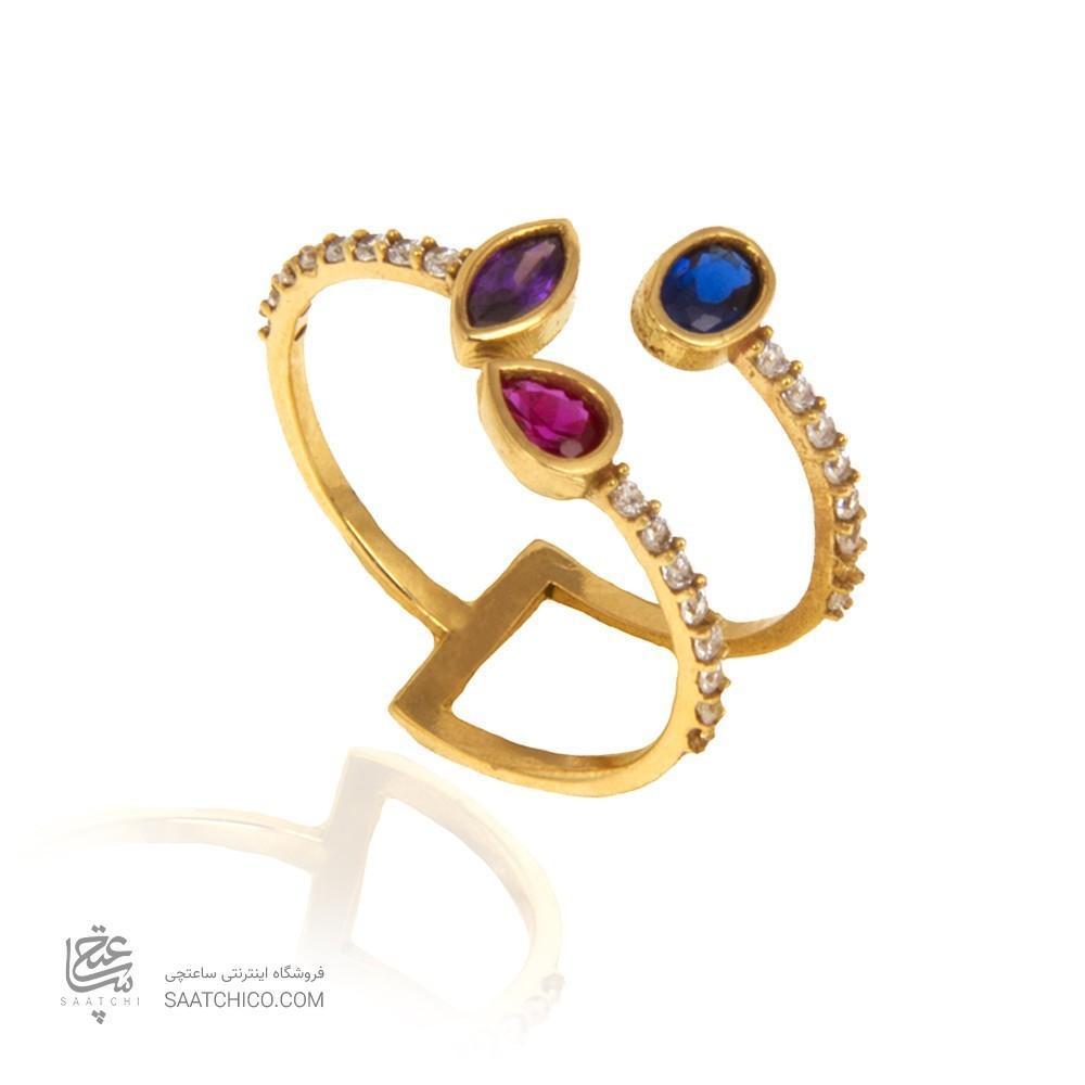 انگشتر طلا زنانه با نگین کد cr408
