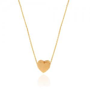 گردنبند طلا زنانه طرح قلب کد cn379