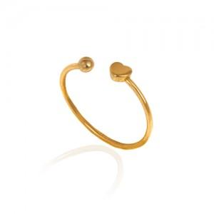 انگشتر طلا زنانه طرح قلب کد cr414