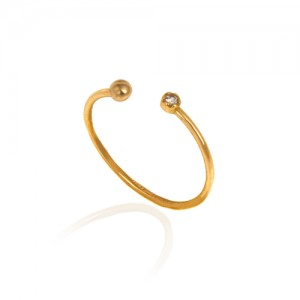 انگشتر طلا زنانه با نگین کد cr413