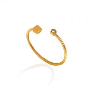 انگشتر طلا زنانه با نگین کد cr412