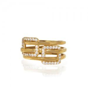 انگشتر طلا زنانه با نگین کد cr417