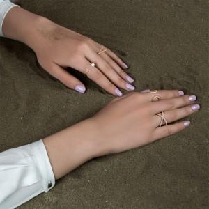 انگشتر طلا زنانه با نگین کد cr418