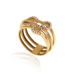 انگشتر طلا زنانه با نگین کد cr420