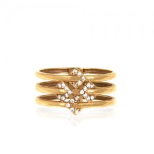 انگشتر طلا زنانه با نگین کد cr421