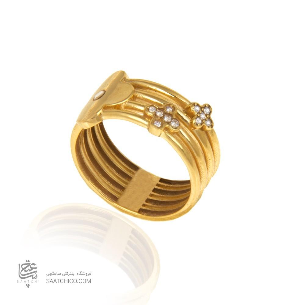 انگشتر طلا زنانه  کد cr422