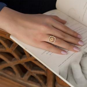 انگشتر طلا طرح لویی ویتون کد cr424
