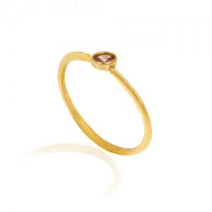 انگشتر طلا زنانه با نگین  کد cr426