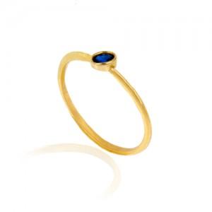 انگشتر طلا زنانه با نگین کد cr427