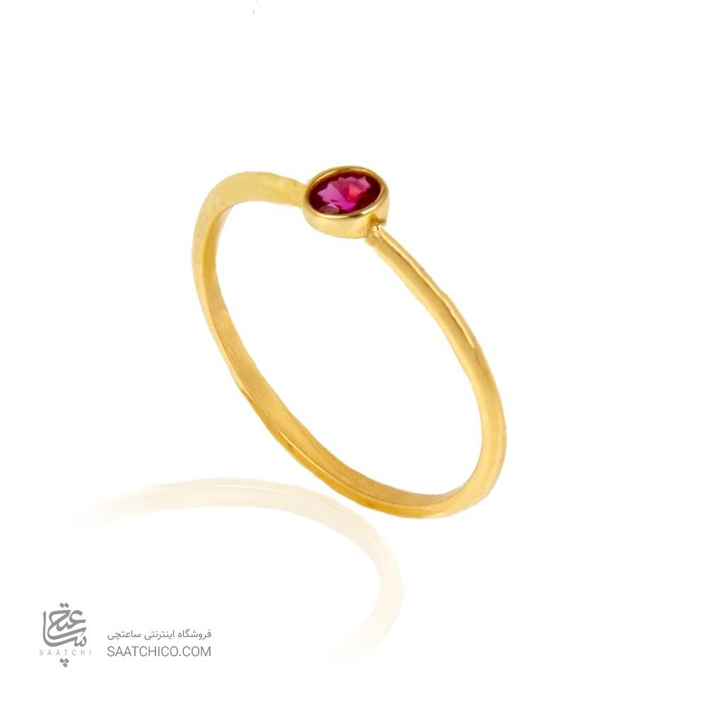 انگشتر طلا زنانه با نگین کد cr428