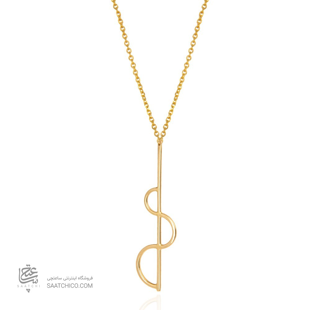 گردنبند طلا زنانه طرح هندسی کد cn370