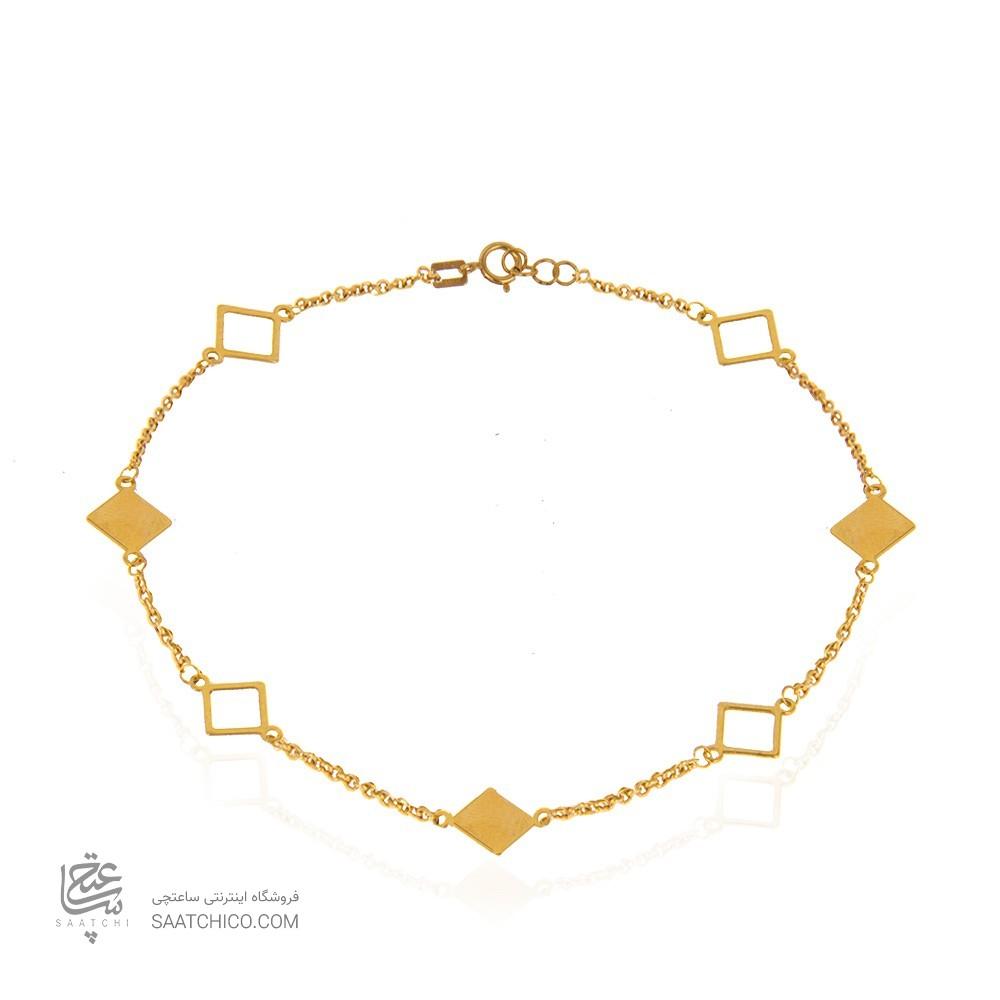 پابند طلا طرح لوزی کد la703