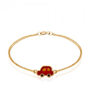 دستبند طلا کودک طرح ماشین کد kb324