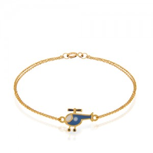 دستبند طلا کودک طرح هلی کوپتر کد kb323