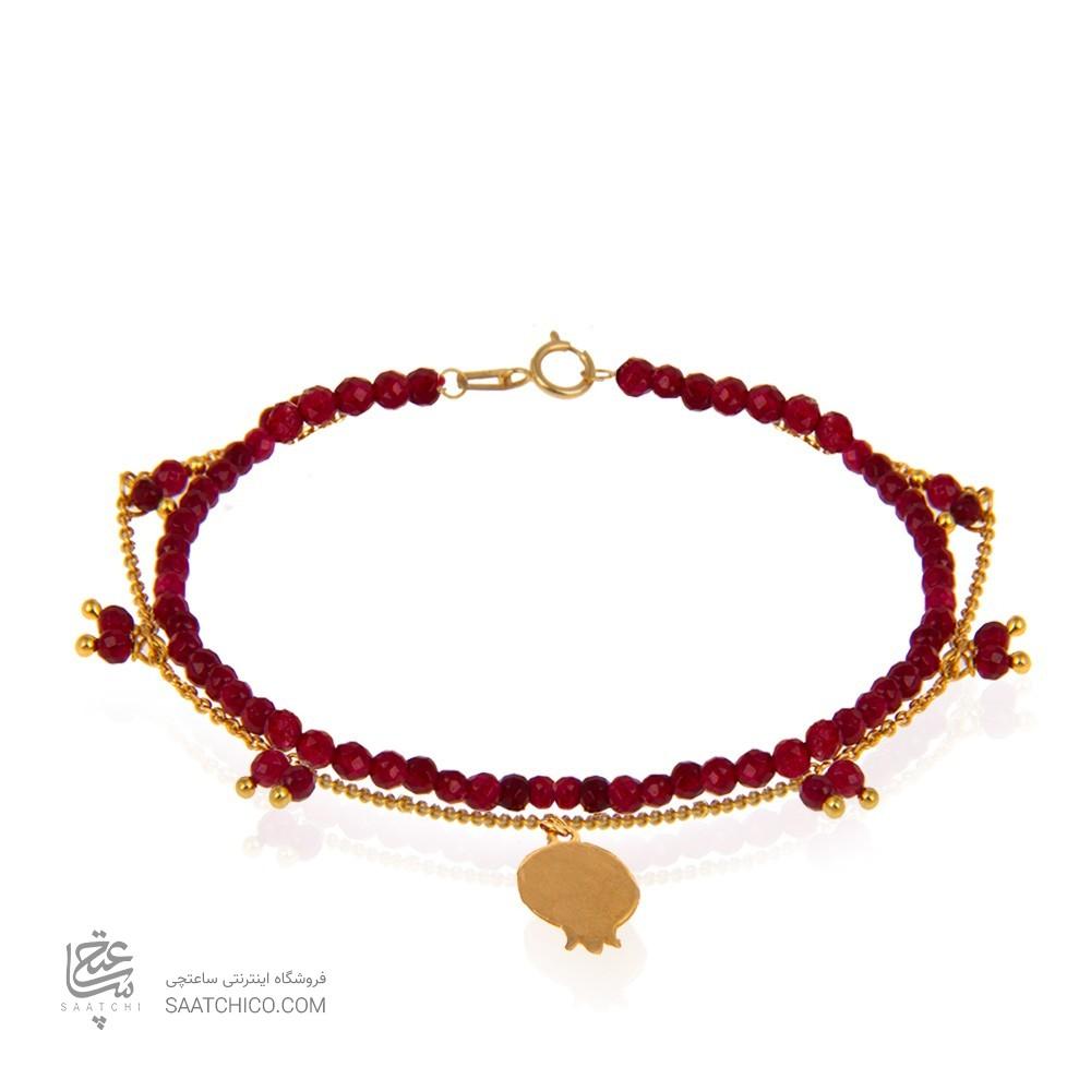 دستبند طلا طرح انار کد xb966