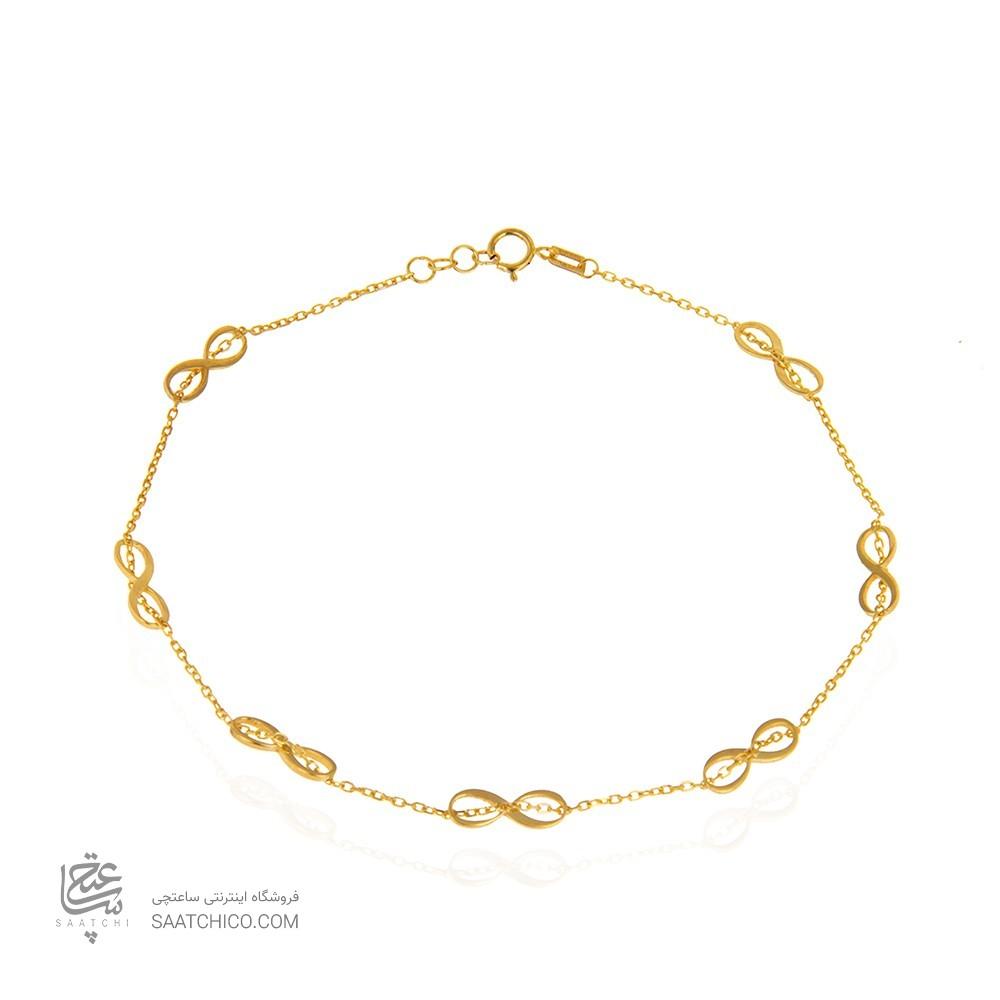 پابند طلا زنانه طرح بی نهایت کد ca404