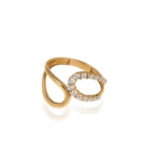 انگشتر طلا زنانه با نگین کد cr433