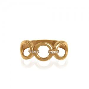 انگشتر طلا زنانه با نگین کد cr432