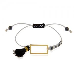 دستبند طلا زنانه طرح هندسی کد xb983