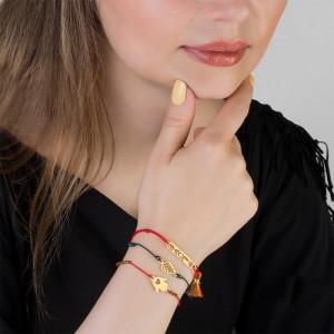 دستبند طلا زنانه طرح دست همسا کد xb982