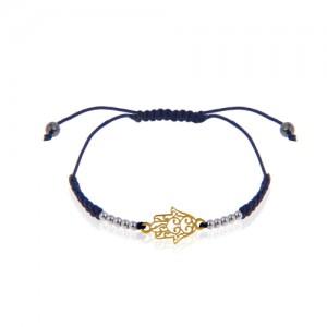 دستبند طلا زنانه طرح دست همسا کد xb981